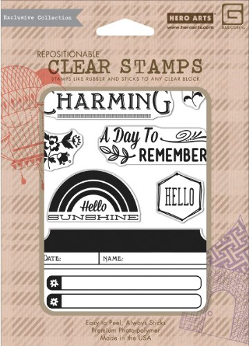 Basic Grey Mint Julep Clear Stamps By Hero Arts-Charming 7 Images 1 pcs sku# 1775920MA