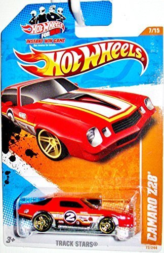 Hot Wheels Decals - Hot Wheels 2011 'CAMARO Z28' TRACK STARS '11 7 of 15 - 72/244 Red with #2 Decal on door