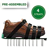 OXYVAN Lawn Aerator Shoes Universal Pre Assembled Spiked Aerating Sandals with 4 Adjustable Metal Straps for Soil and Grass Health Care