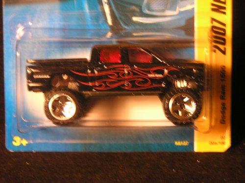 Mattel Hot Wheels 2007 New Models Black Dodge Ram 1500 Die Cast Truck #05/180 ()