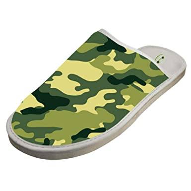 0bf9b13ba5fa5 Amazon.com: JJZZA Adult Fashion Design House Slippers,Army Green ...