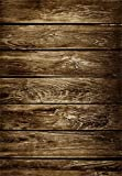 AOFOTO 5x7ft Old Wooden Plank Photography Studio Background Grunge Shabby Wood Board Backdrops Weathered Worn Hardwood Floor Artistic Portrait Nostalgic Vintage Photo Shoot Studio Props Video Drape