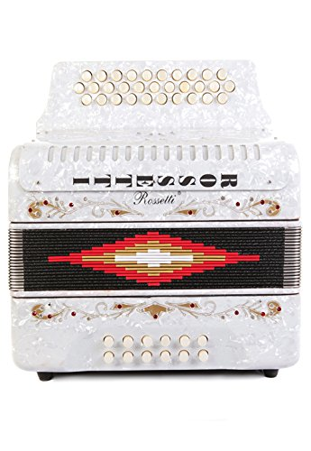 Rossetti 31 Button Accordion 12 Bass FBE White by Rossetti (Image #3)