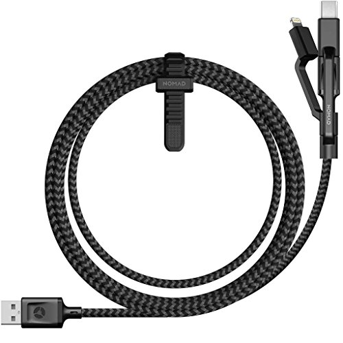 Nomad Ultra Rugged 1.5M USB A to Micro USB - Universal Multi-tip Charging Cable - Compatible with Any Mobile Device