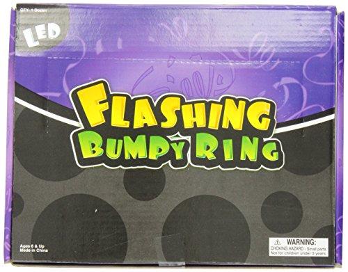 Flashing Led Bumpy Ring (Pack of 12)