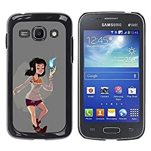 Ihec Tech Magical Girl Poder Espiritual cómica de dibujos animados / Funda Case back Cover guard / for Samsung Galaxy Ace 3