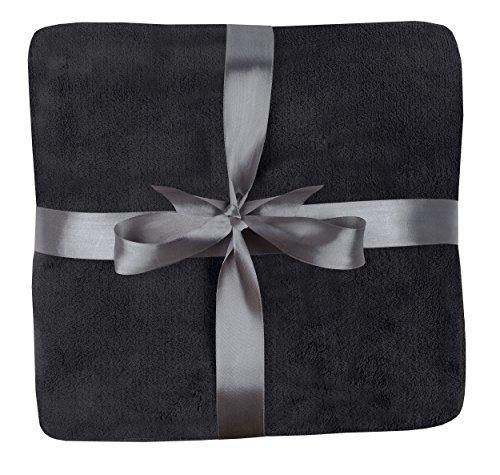 daydream: flauschige Kuscheldecke aus Coral Fleece, 150 x 200 cm, schwarz (K-3004)
