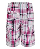 Kids Checked Shorts L-129 in Pink 7-8 Years