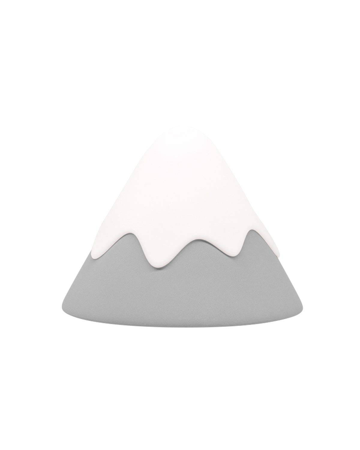Night Light, DesignNest, Snow Mountain lamp, Tap Control&Timer Setting, Soft Silicone, Dimmable, Soft Eye Caring, Rechargeable, Portable, Nursery Lamp, Kids Safe (Grey)