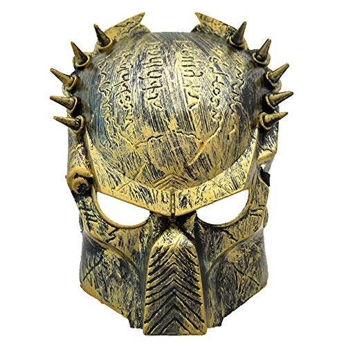 Junyulim Jagged Warrior Mask Halloween Mask Role Playing Makeup Party Suitable for Masquerade/Party/Bar Cosplay Halloween Mask Party Mask -