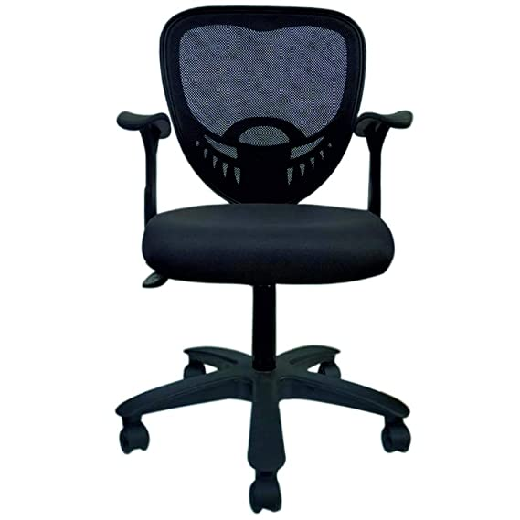 Alfa Chairs Casual Swivel Office Chair  Fabric ,Black,1 Piece