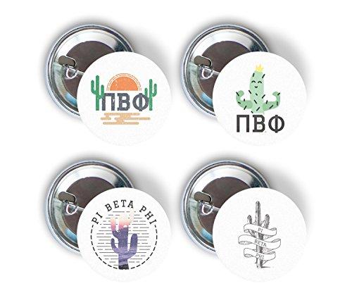 - Pi Beta Phi Sorority Cactus Desert Variety Pack of Buttons Pin Back Badge 2.25-inch Pi Phi