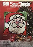 Sew Simple Latch Hook Kit Santa - 1983