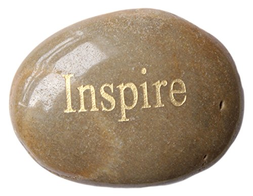Inspirational Message Stones Engraved with Uplifting Words of Wisdom - Inspire