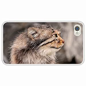iPhone 4 4S Black Hardshell Case pallas pallas muzzle White Desin Images Protector Back Cover