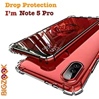 BIGZOOK Soft TPU Transparent All Sides Protection Back Case Cover for Xiaomi Redmi Note 5 Pro [ Transparent]