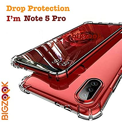 promo code b37fc 8826b BIGZOOK Soft TPU Transparent All Sides Protection Back Case Cover for  Xiaomi Redmi Note 5 Pro [ Transparent]