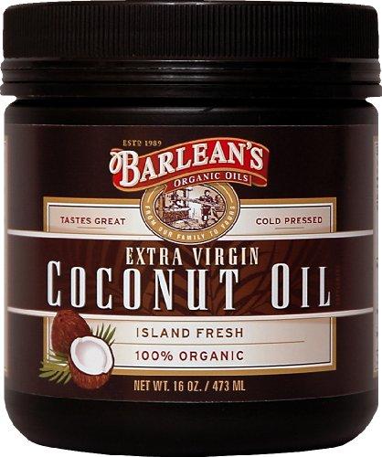 Barlean Bio Huiles Extra Vierge Huile de Coco, 16-Ounce Jar