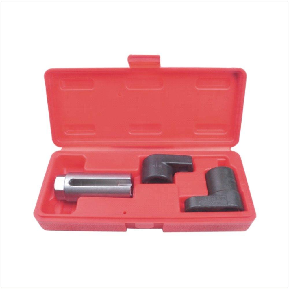 JDT 3PC Universal Oxygen Sensor Socket Set 7/8' 22mm, Oxygen Sensor Socket Wrench Remver Set