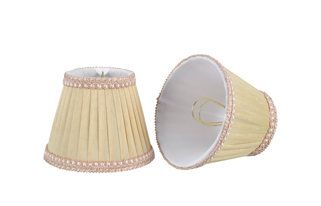 6 bottom width 3 x 6 x 5 1 Pack Aspen Creative 33003 Small Pleated Empire Clip-On Lamp Shade Transitional Design in Cr/ème 6 bottom width 3 x 6 x 5