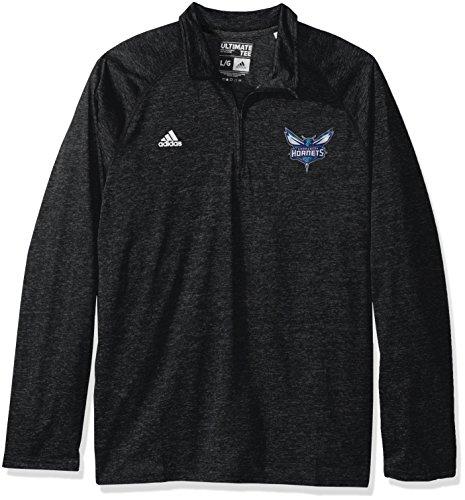 fan products of NBA Charlotte Hornets Men's Climalite Ultimate Long Sleeve 1/4 Zip Top, Medium, Black
