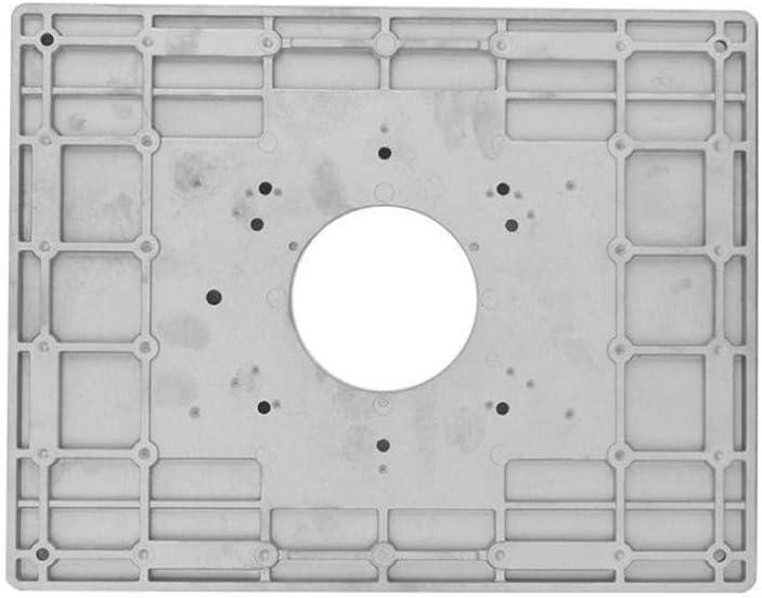 Tabla De Enrutador Universal Adaptador De Aleaci/ón De Aluminio Placa Placa De Inserci/ón Kit De Placa Base Para Bancos De Carpinter/ía Con Herramienta Auxiliar 300 9.5 Mm 235