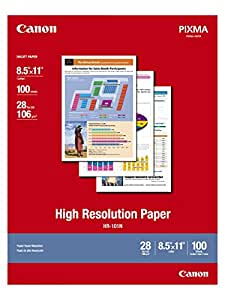 Canon HR-101 High Resolution Paper for Bubble Jet Printers (1033A011, 100-Sheets)