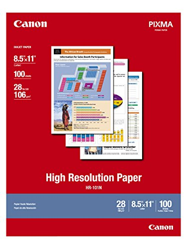 Canon HR-101 High Resolution Paper for Bubble Jet Printers (1033A011, 100-Sheets) ()
