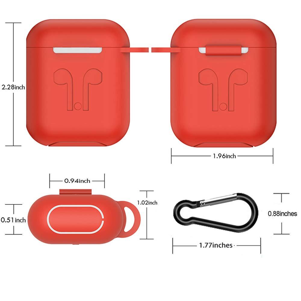 AirPods Funda 10 en 1 Accesorios de protecci/ón Juegos para la Caja de Carga de Apple AirPods Negro