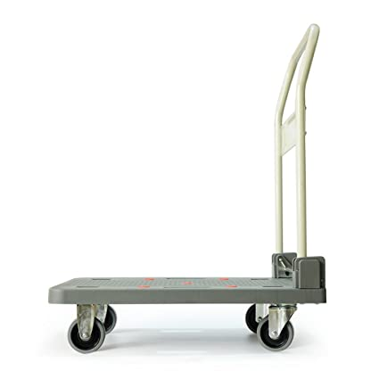Ali Lamps@ Rueda de mano Rueda universal plegable Carro de cuatro ruedas de plataforma plana