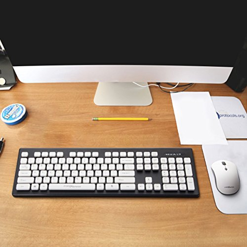 srocker c500 wireless keyboard and mouse combo whisper quiet 3 adjustable dpi mouse with 104. Black Bedroom Furniture Sets. Home Design Ideas