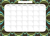 Brewster Wall Pops WPE99019 Peel and Stick Loopy Dry-Erase Monthly Calendar with Marker- Blue, Baby & Kids Zone