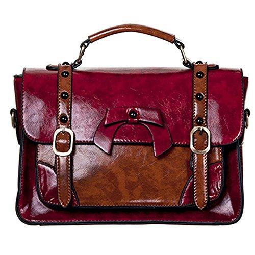 bolso retro de la vendimia con hebillas y un lazo rojo - Un tamaño - Prohibido