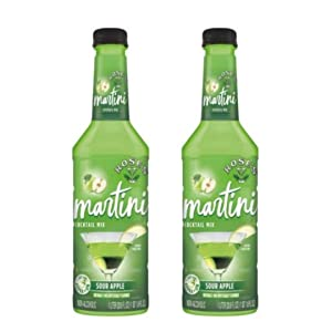 Rose's Martini Cocktail Mix Sour Apple 1 Liter (Pack of 2)