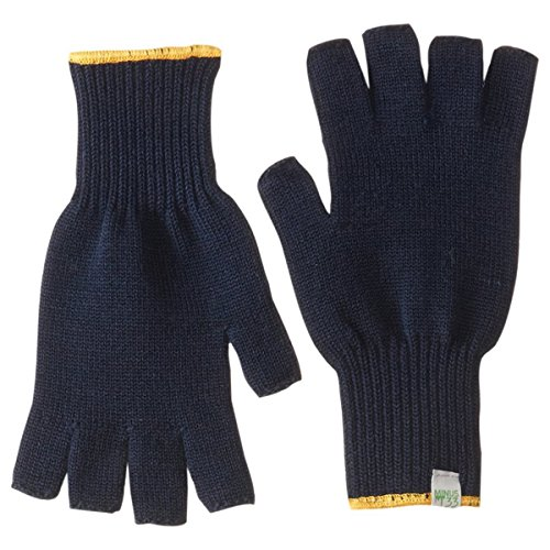 Minus33 Merino Wool Clothing Unisex Merino Wool Fingerless Gloves, Navy, Large