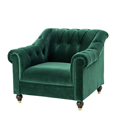 Cool Amazon Com Green Velvet Tufted Arm Chair Eichholtz Brian Ocoug Best Dining Table And Chair Ideas Images Ocougorg