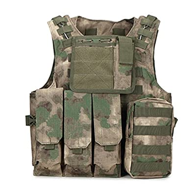 Limeile Tactical Vest CS Field Adjustable Outdoor Ultra-Light Combat Training Airsoft Vest Breathable with 4 Pocket for Adult Women Men