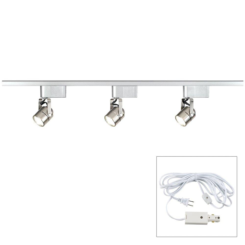 Pro Track Brushed Steel 150 Watt LV Track Kit - Plug in