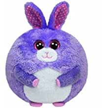 "Ty Beanie Ballz Lilac the Bunny Plush - 5"""