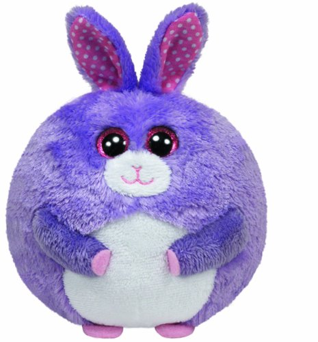 """NEW Ty Beanie Ballz Lilac the Bunny Purple Plush - 5"""" FREE S"""