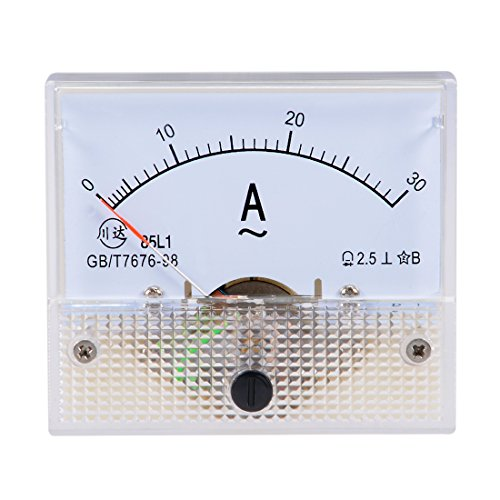 uxcell AC 0-30A Analog Panel Ammeter Gauge Ampere Current Meter 85L1 ()