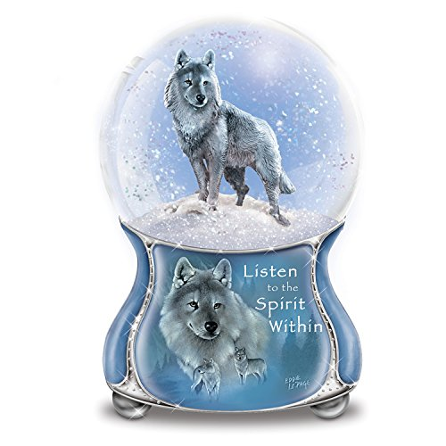 Eddie LePage Silver Scout Musical Glitter Globe from The Bradford Exchange by The Bradford Exchange (Wolf Water Globe)