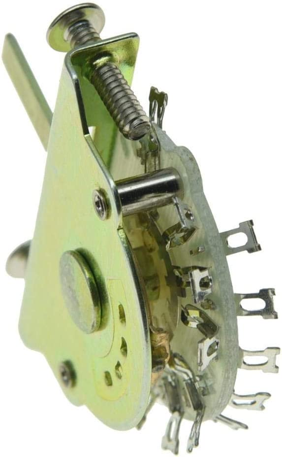 KAISH Guitar 3-Way Switch 3-Position Pickup Selector Switch with 12 Terminals for American Teles with Black Tip
