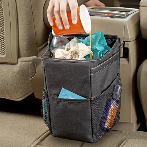 High Road Stash Away Car Trash Can With Lid