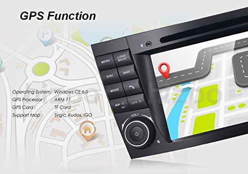 Coche GPS DVD USB SD Bluetooth Autoradio 2 Din NAVI para Mercedes-Benz W211 W219: Amazon.es: Electrónica