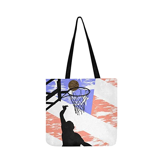 Dibujo vectorial Jugador de baloncesto Pelota contra lienzo Bolso ...