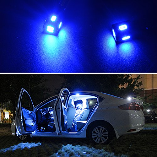 Blue T10 194 168 LED Bulbs, AUTOSAVER88 Super Bright High Power 5630 SMD Interior Light 12V LED Lights Replacement for 585 655 656 657 1250 1251 (Pack of 10)