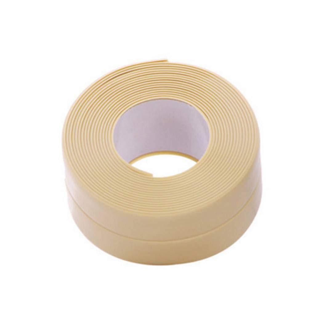 Lorsoul Angolo Cottura Linea Striscia di Tenuta Beige Antipolvere Impermeabile Sink//Bagno Nastro//Wall Adesivo Bianco Decorazione Domestica