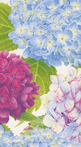 Entertaining with Caspari 14410G Hydrangea Garden Blue Guest Towel, Multicolor