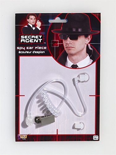 [Secret Agent Spy Ear Piece Prop] (Spy Costume Accessories)